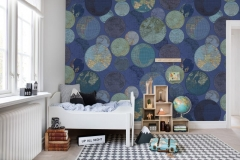Фотообои Rebel Walls R13883 Globes Gathering, Blue