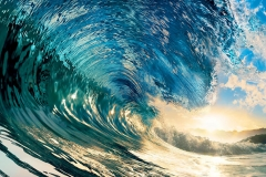Флизелиновые фотообои Wizard & Genius: Волна идеальная, 366х254,