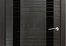 Межкомнатная дверь Верда ID D (стекло черное)