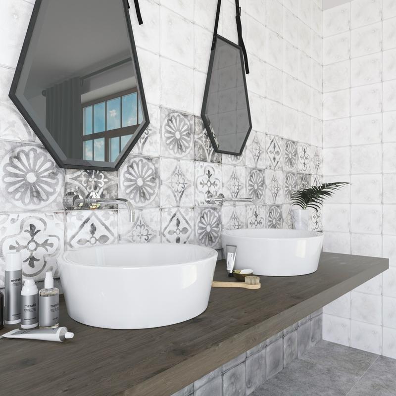 Керамическая плитка Керамин Гранада в ванной комнате