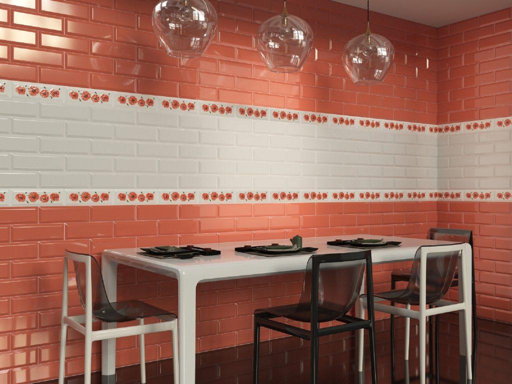 Керамическая плитка Грация Керамика Metro в интерьере кухни