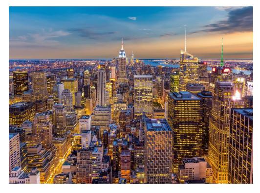 Фотообои бумажные «Закат в Манхэттене» 254х184 см в Леруа Мерлен