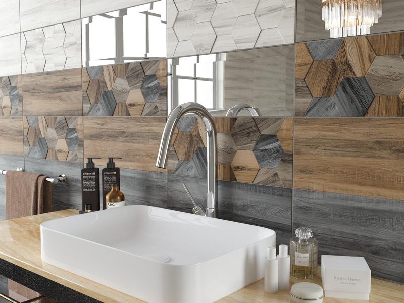 Керамическая плитка Керамин Миф для ванной