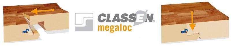 Замки Megaloc ламината CLASSEN