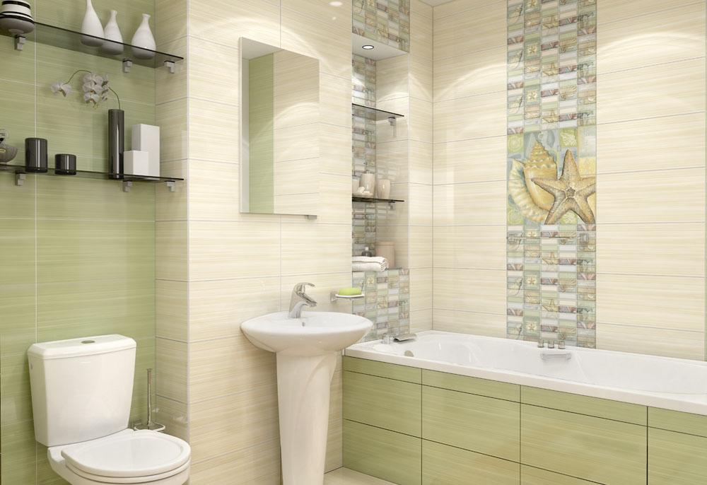 Керамическая плитка Уралкерамика Релакс в интерьере ванной