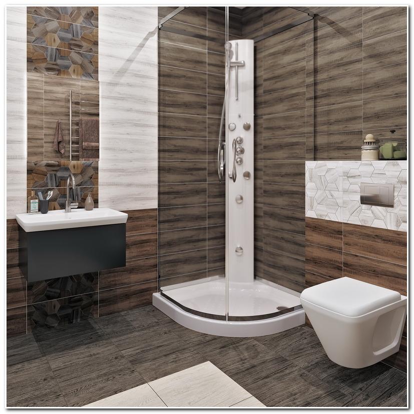 Плитка Керамин Миф в интерьере ванной комнаты