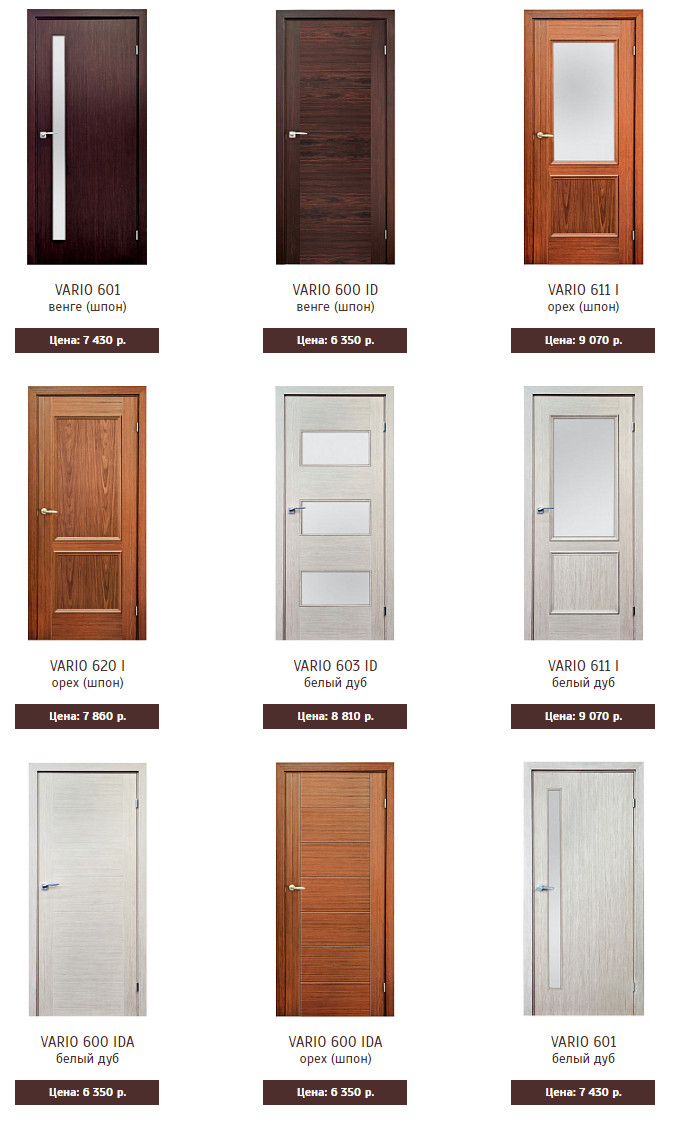 Межкомнатные двери Марио Риоли Vario