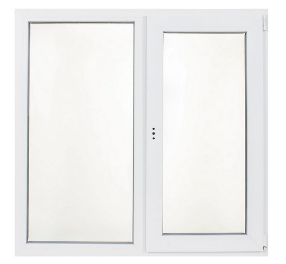 Окно ПВХ двустворчатое 120х120 см в Леруа Мерлен