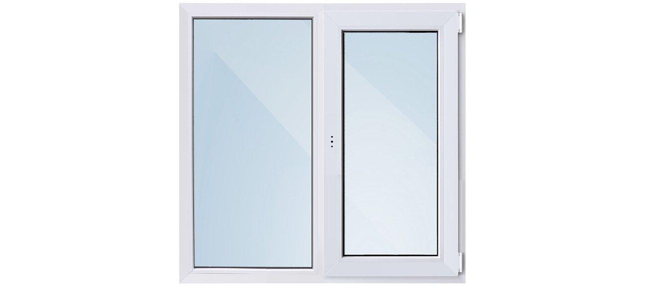 Окно ПВХ двухстворчатое 1160x1000 мм в ОБИ