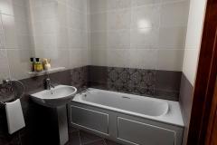 Керамическая плитка Сокол Эрмитаж в ванной