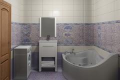 Плитка Сокол Гауди в интерьере ванной