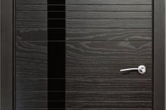 Межкомнатная дверь Верда ID H (стекло черное)