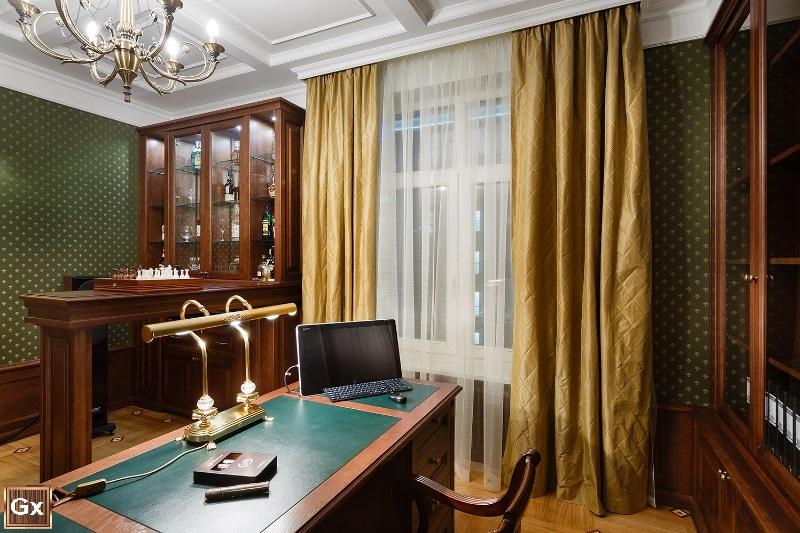 Классический дизайна интерьера кабинета