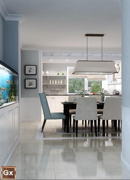 Классический дизайна кухни квартиры