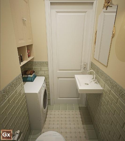 Классический дизайна интерьера ванной