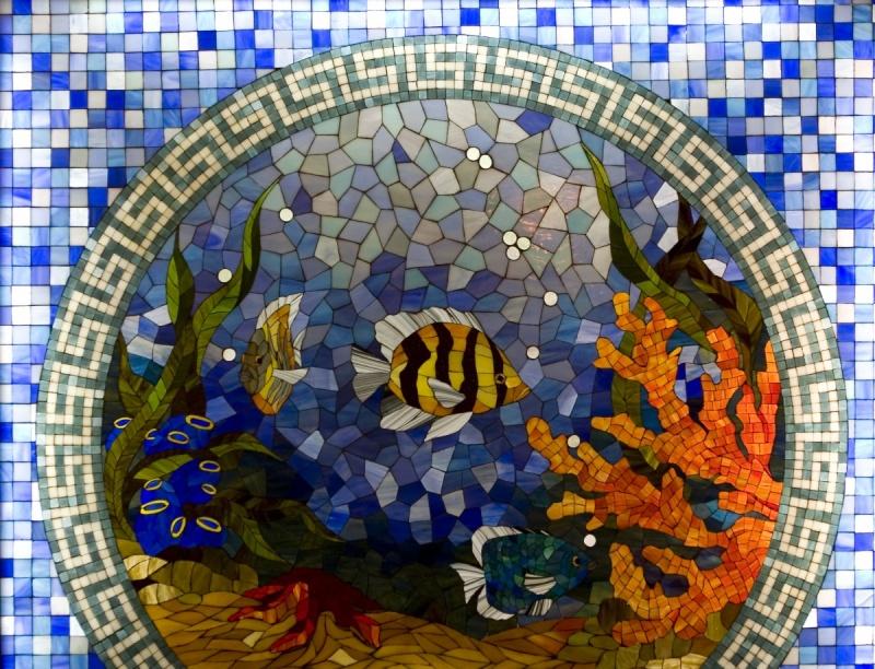 пример мозаичного витража