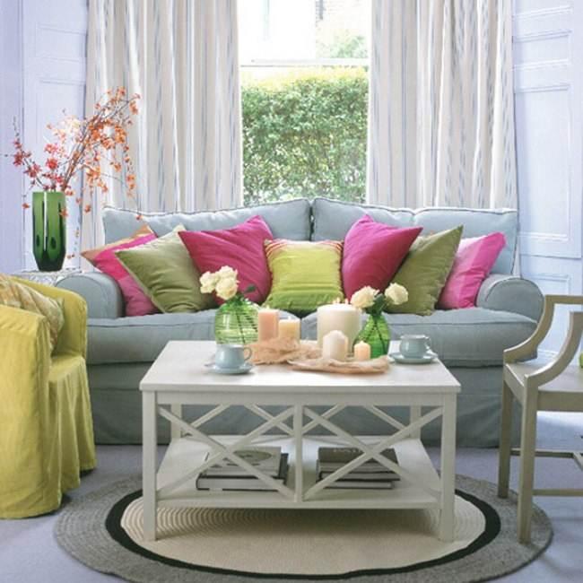 Цвета весеннего интерьера квартиры