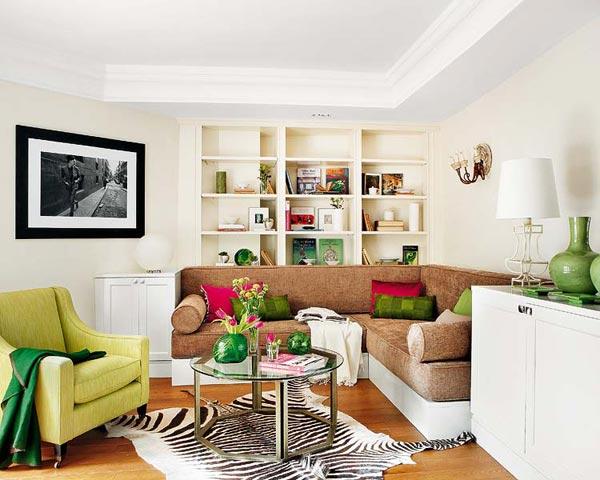 Весенний дизайн гостиной