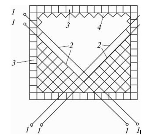 Схема диагональной укладки плитки