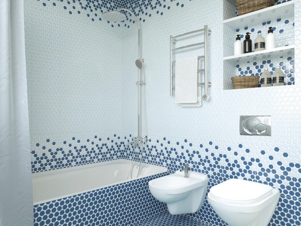 Керамическая плитка Керамин Блэйз в ванной комнате