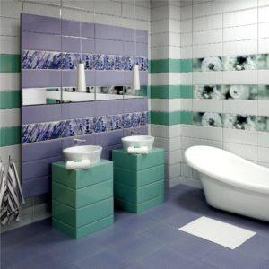 Керамическая плитка Керамин Концепт в интерьере ванной