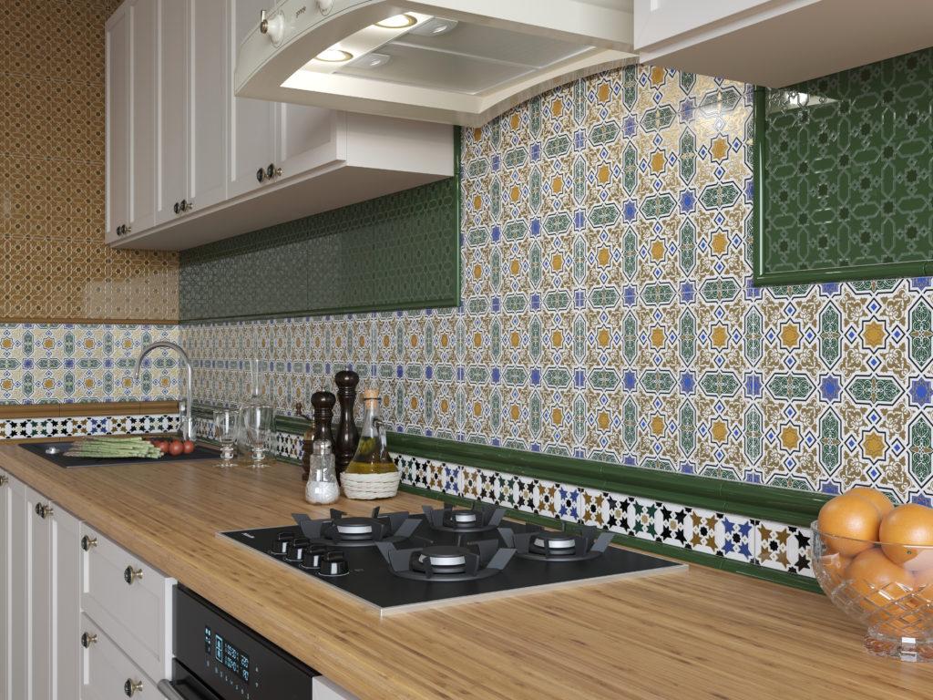 Керамическая плитка Керамин Марокко для кухни