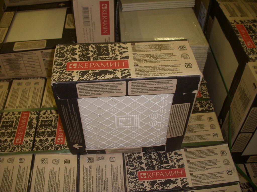 Упаковка плитки Керамин