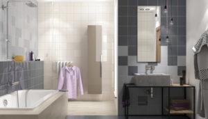 Керамическая плитка Paradyz Ceramika Gamma в интерьере ванной