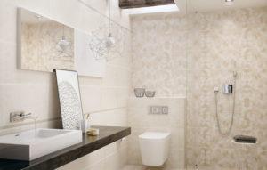 Плитка Paradyz Ceramika Emilly в интерьере ванной