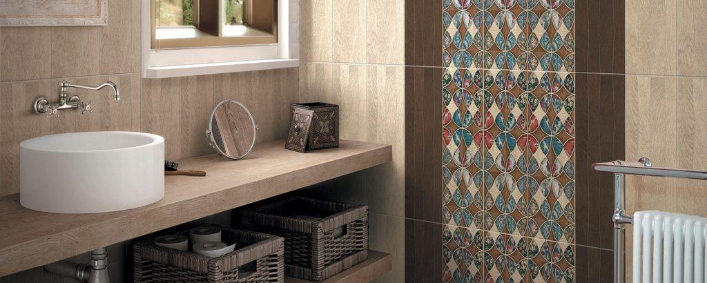 Керамическая плитка Нефрит Керамика Альберто в интерьере