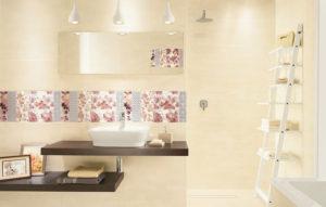 Керамическая плитка Paradyz Ceramika Reflection в интерьере ванной