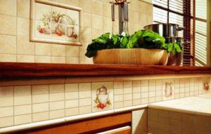 Керамическая плитка Paradyz Ceramika Vanilla в интерьере кухни