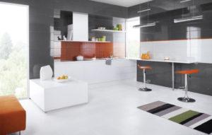 Керамическая плитка Paradyz Ceramika Yoshioka в интерьере кухни