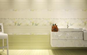 Керамическая плитка Грация Керамика Rapsodia в интерьере ванной комнаты