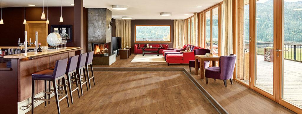 Ламинат Egger  Design+ в интерьере отеля